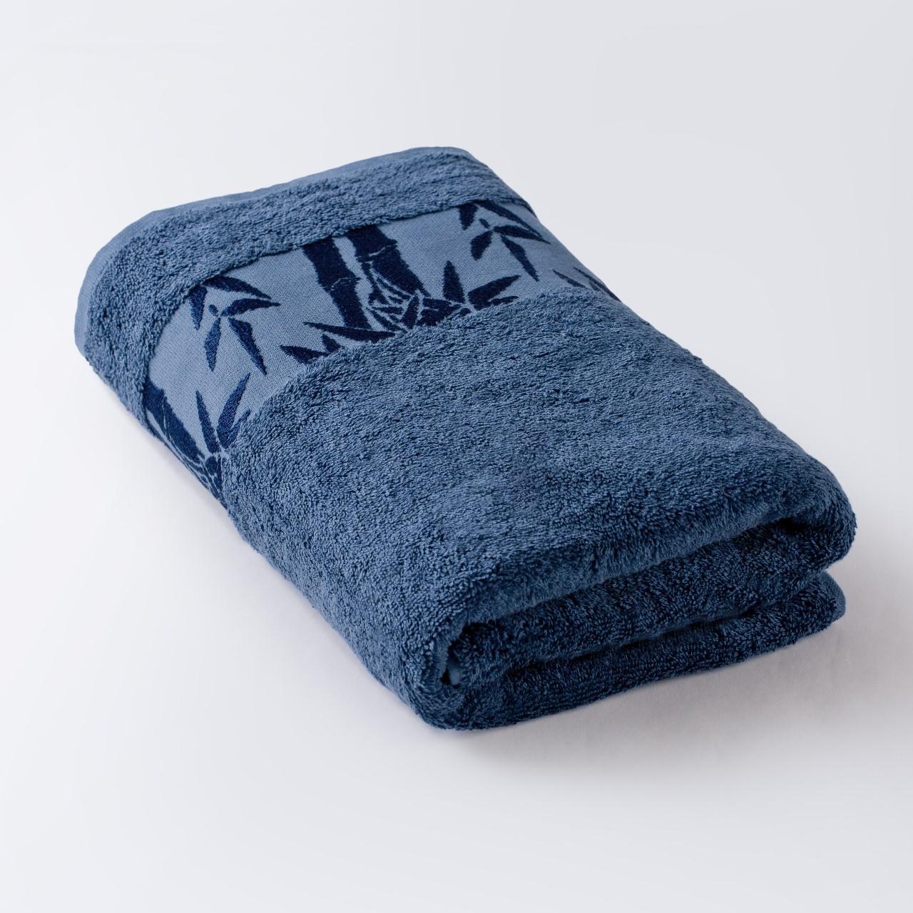 Полотенце Бамбук синий 91х150