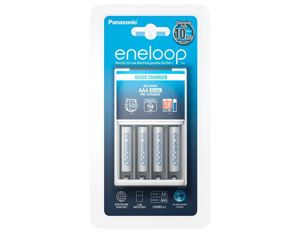 Зарядное устройство + аккумуляторы Panasonic eneloop