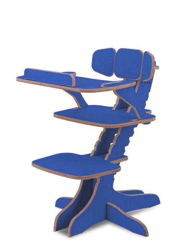 Растущий детский стул Kandle BabySmart со столиком синий