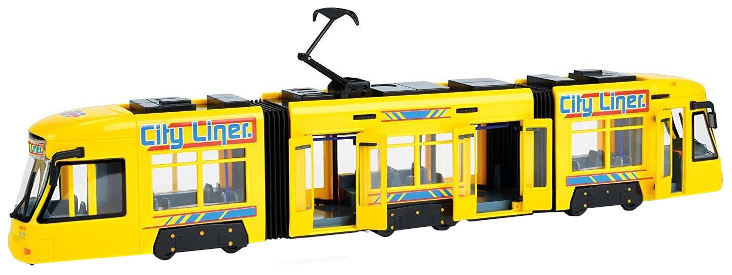 Купить Городской трамвай City Liner, желтый, 46 см Dickie Toys, Городской транспорт