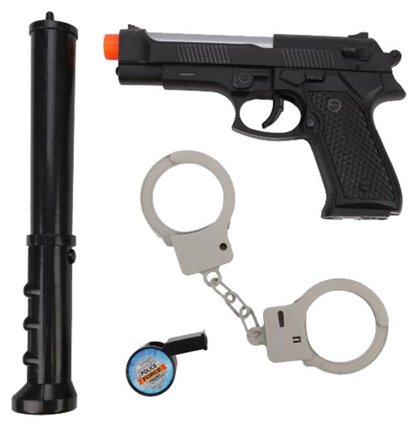 Купить Набор полицейского Наша игрушка автомат, электрошокер, наручники, свисток, Детские наборы полицейского
