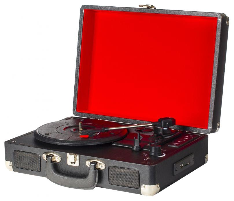 Проигрыватель виниловых пластинок Подарки и сувениры 98905 Black/Red фото
