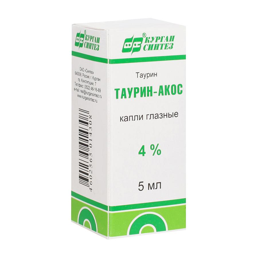 Купить Таурин-Акос, Таурин капли глазные 4% 5 мл Синтез