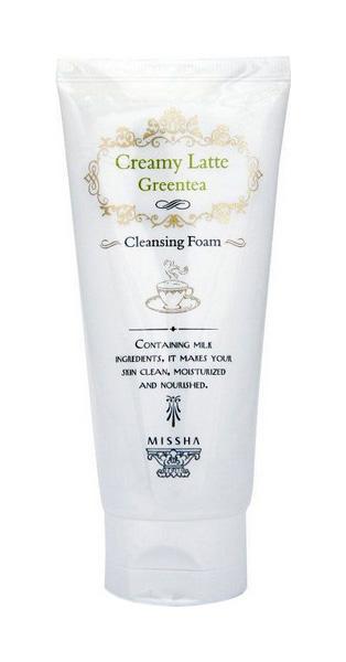 Пенка для умывания Missha Creamy Latte Cleansing Foam Green Tea 172 мл