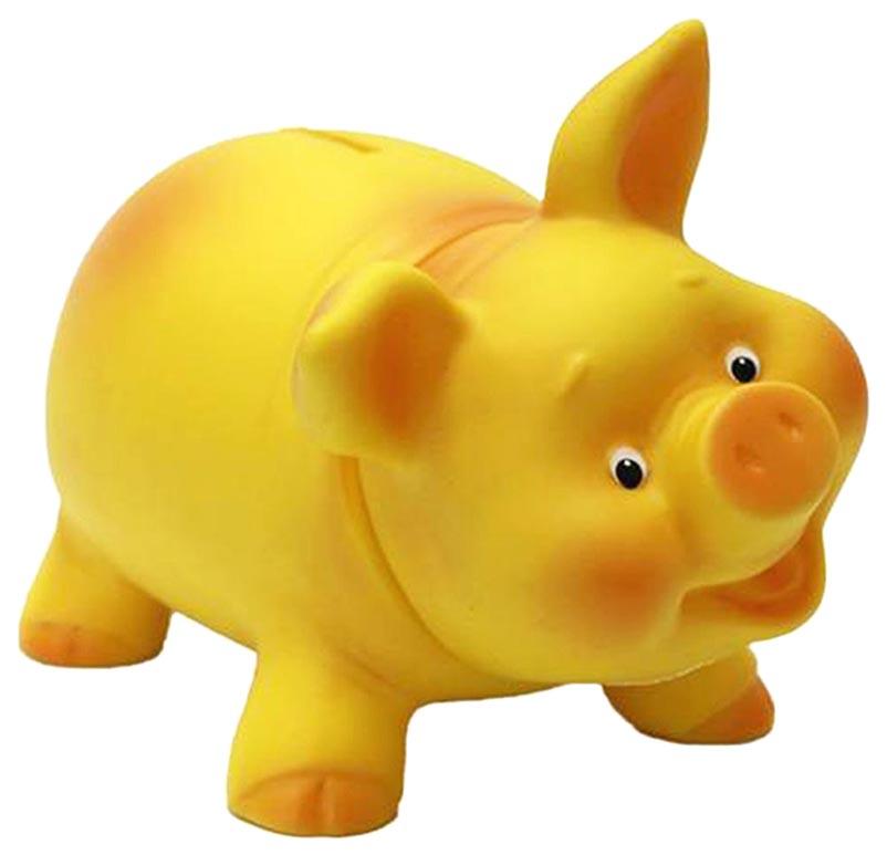 Купить Игрушка из ПВХ Копилка Хрюшка , 10.5 см (желтая), Весна, Фигурки животных
