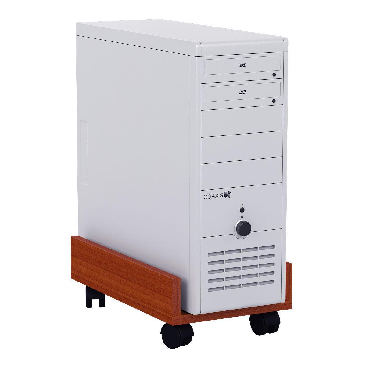 Подставка под системный блок Мебельный Двор 4-02 яблоня 27х45х15 фото