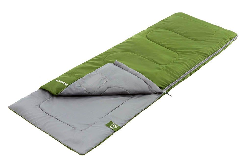 Спальный мешок Jungle Camp Ranger Comfort JR, с подголовником, левая молния, цвет: зеленый