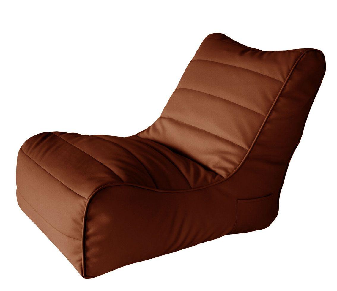 Кресло бескаркасное Папа Пуф Soft Lounger Brown, размер XL, экокожа, коричневый