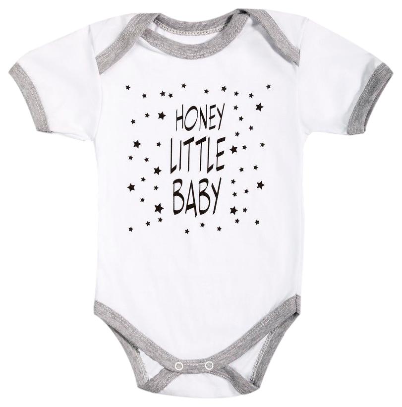 Купить HONEY LITTLE BABY КР, Боди детское с коротким рукавом Amarobaby р.56, Боди для новорожденных