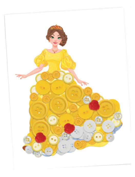Купить Набор для творчества D&M / Делай с Мамой Создаем картину из пуговиц Принцесса Белла 67860, Делай с мамой,