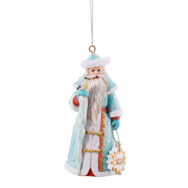 Елочная игрушка Magic Time Дед Мороз с птичкой 1 шт 9x5x5 см фото