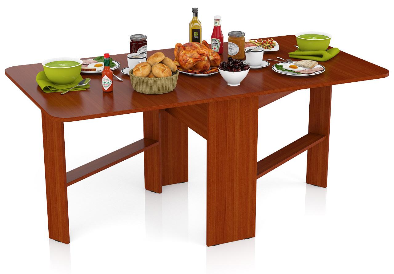 Стол-книжка обеденный Мебельный Двор СО-01 яблоня 170х90х75 см., сложенный 29х90х75 см. фото
