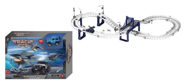 Купить Автотрек Наша Игрушка машина и два самолета, 92 детали, аксессуары 663-Z4L, Наша игрушка, Детские автотреки
