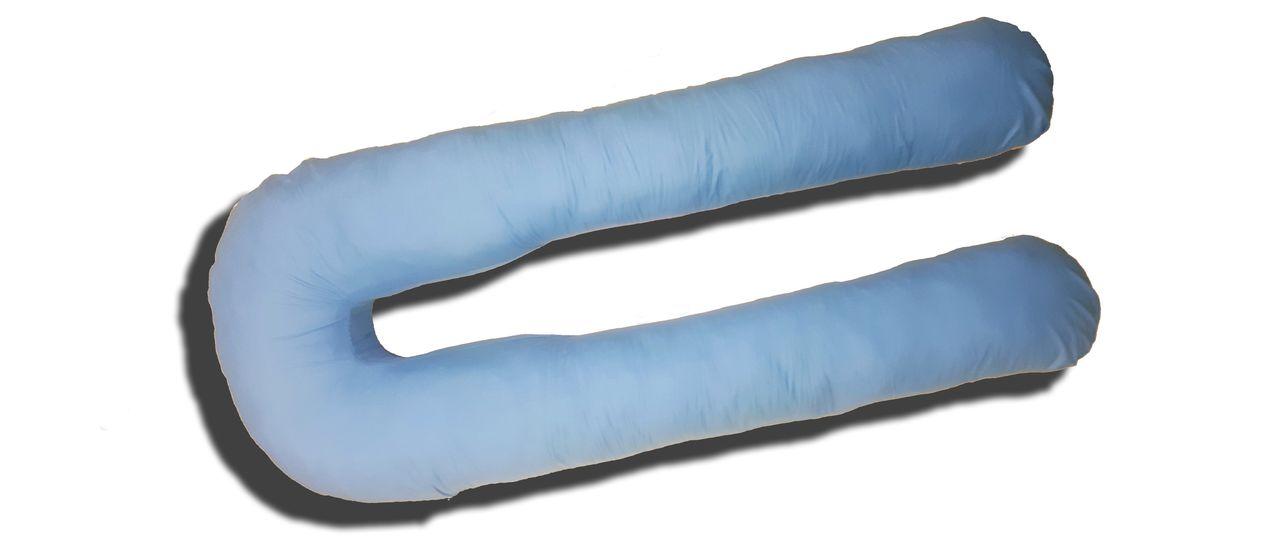 Подушка для беременных TEXXET U330 Голубой сатин
