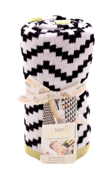 Купить Одеяло Bizzi Growin (Биззи Гровин) Chevron 70*90 BG014, Одеяла для новорожденных