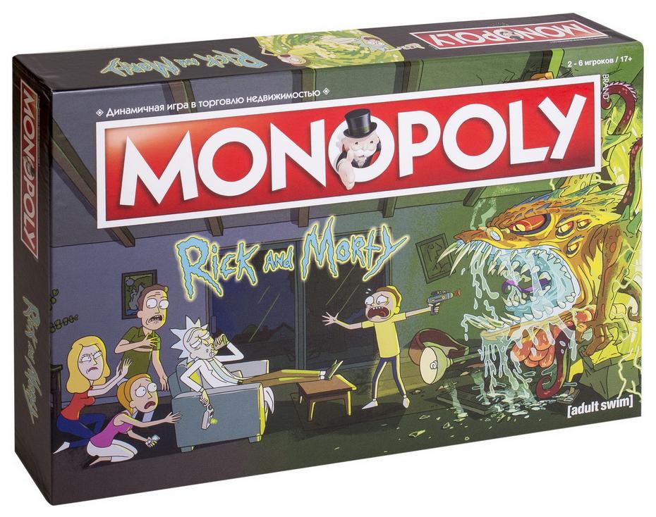Купить Настольная игра Монополия. Рик и Морти , Hobby World, Семейные настольные игры