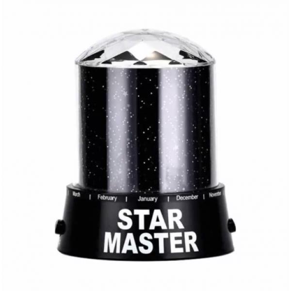 Ночник-проектор Звездное небо Star Master с USB кабелем NCH-015 (Черный)