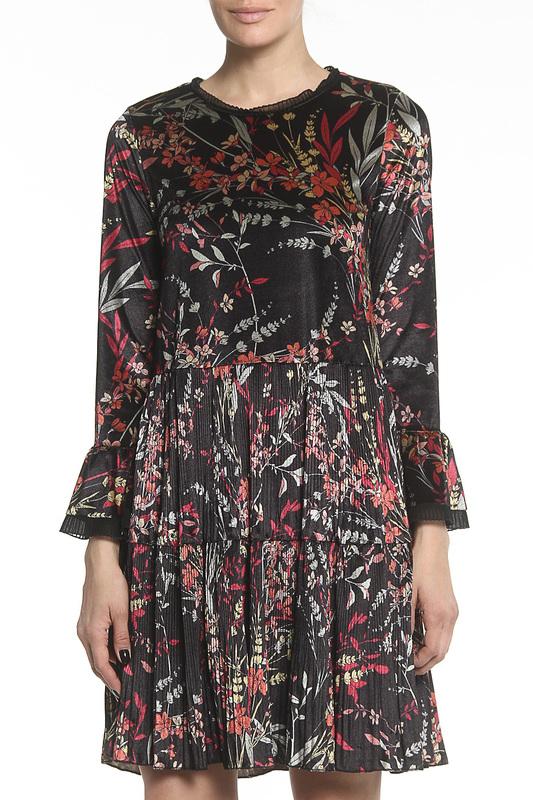 Платье женское Sfizio 17FA6635DE843 черное 42 IT.
