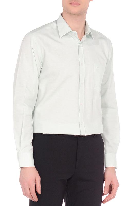 Рубашка мужская KarFlorens 20156-10 зеленая XL