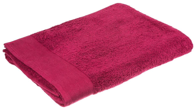 Банное полотенце, полотенце универсальное Santalino красный
