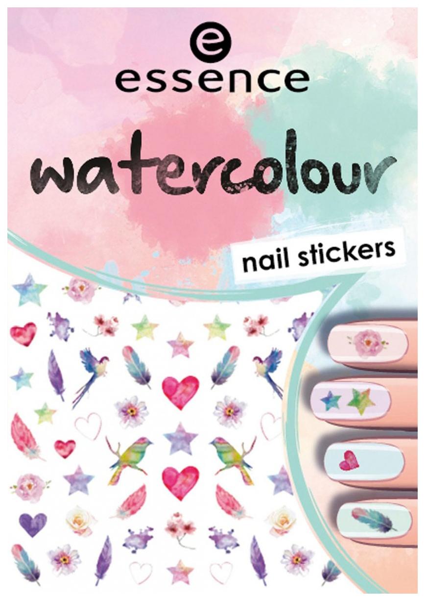 Наклейки для ногтей essence Watercolour Nail Stickers