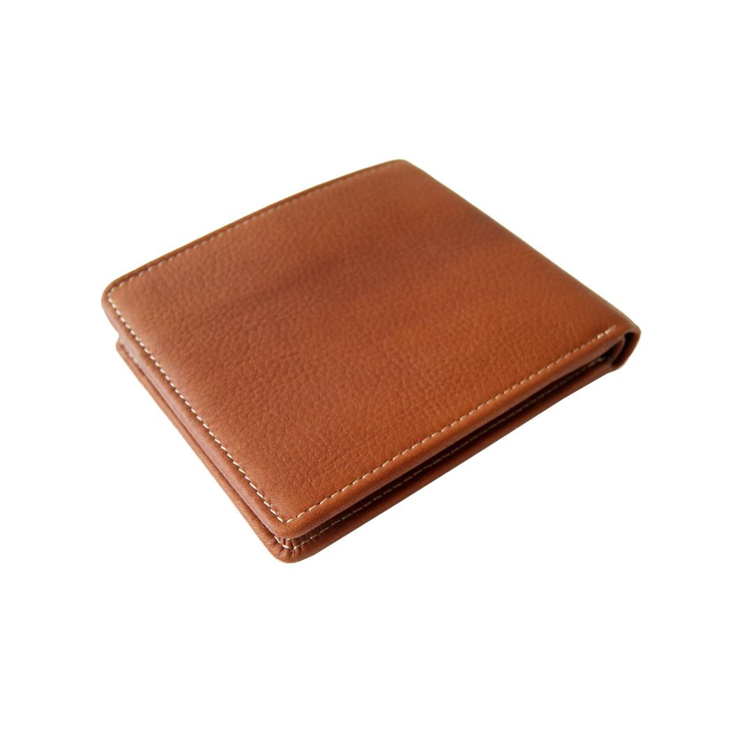 Рыжий кошелек из натуральной кожи Bufalo WLJ-10