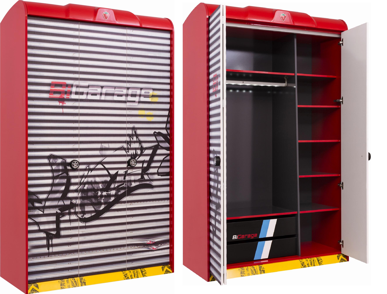 Купить Шкаф трехдверный Cilek Champion Racer, Шкафы в детскую комнату