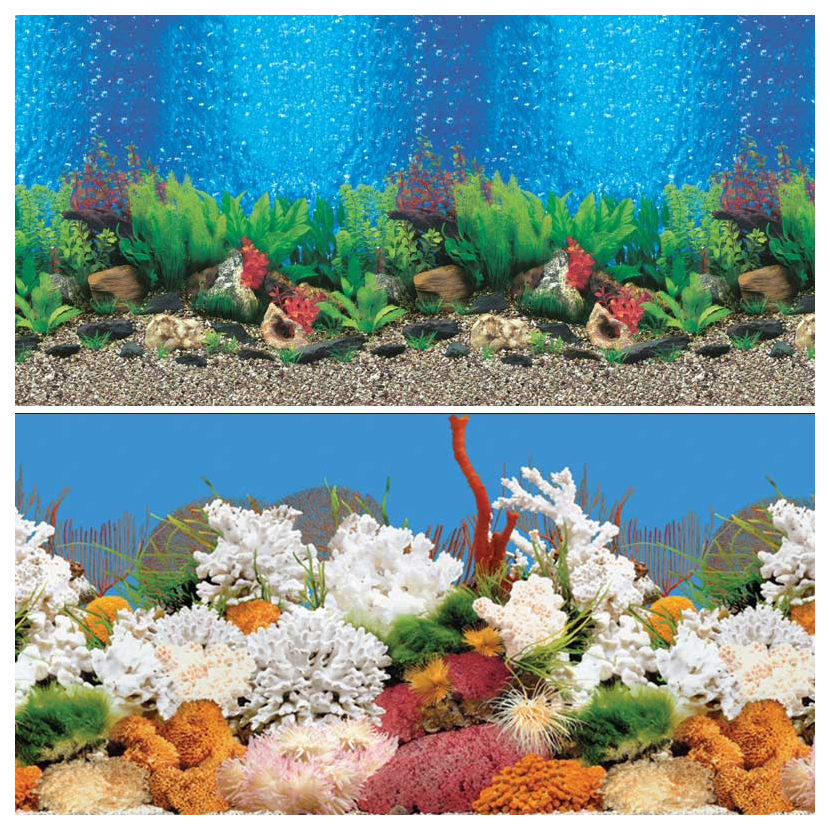 Фон для аквариума Laguna 9019/9029 Голубые Гавайи/Белый коралл 74064024