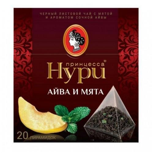 Чай черный Принцесса Нури айва и мята 20 пакетиков