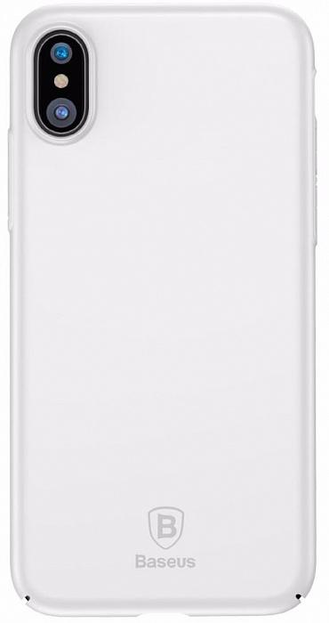 Чехол-накладка Baseus Thin Case (WIAPIPHX-ZB02) для iPhone X (White)