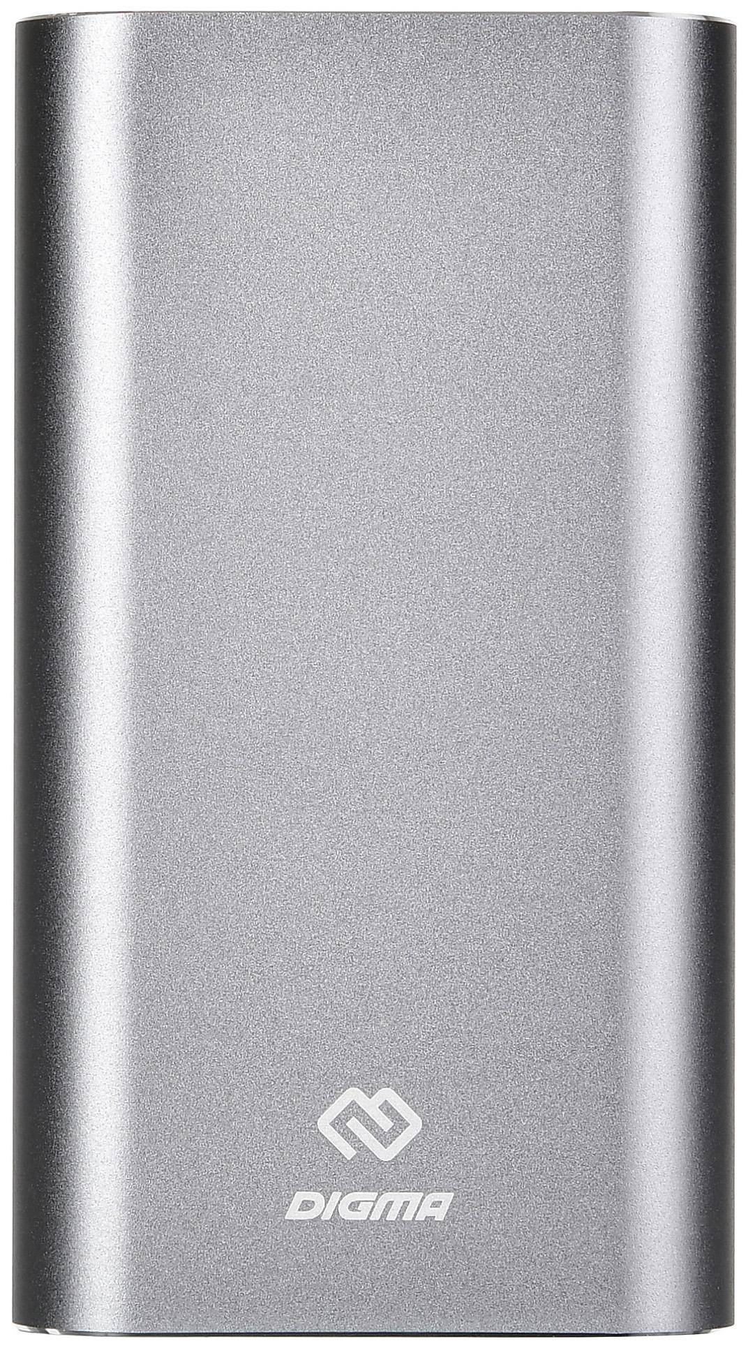 Внешний аккумулятор DIGMA DG-ME-20000 20000 мА/ч Grey фото