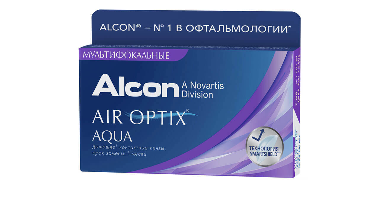 Контактные линзы Air Optix Aqua Multifocal 3 линзы high -4,75