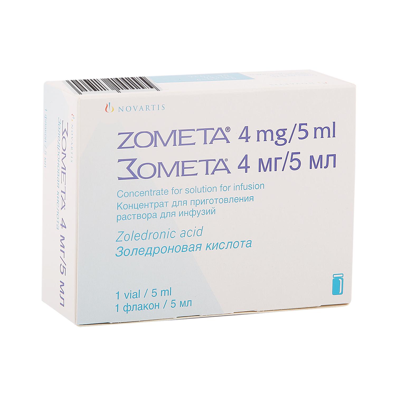 Зомета концентрат для раствора 4 мг/5
