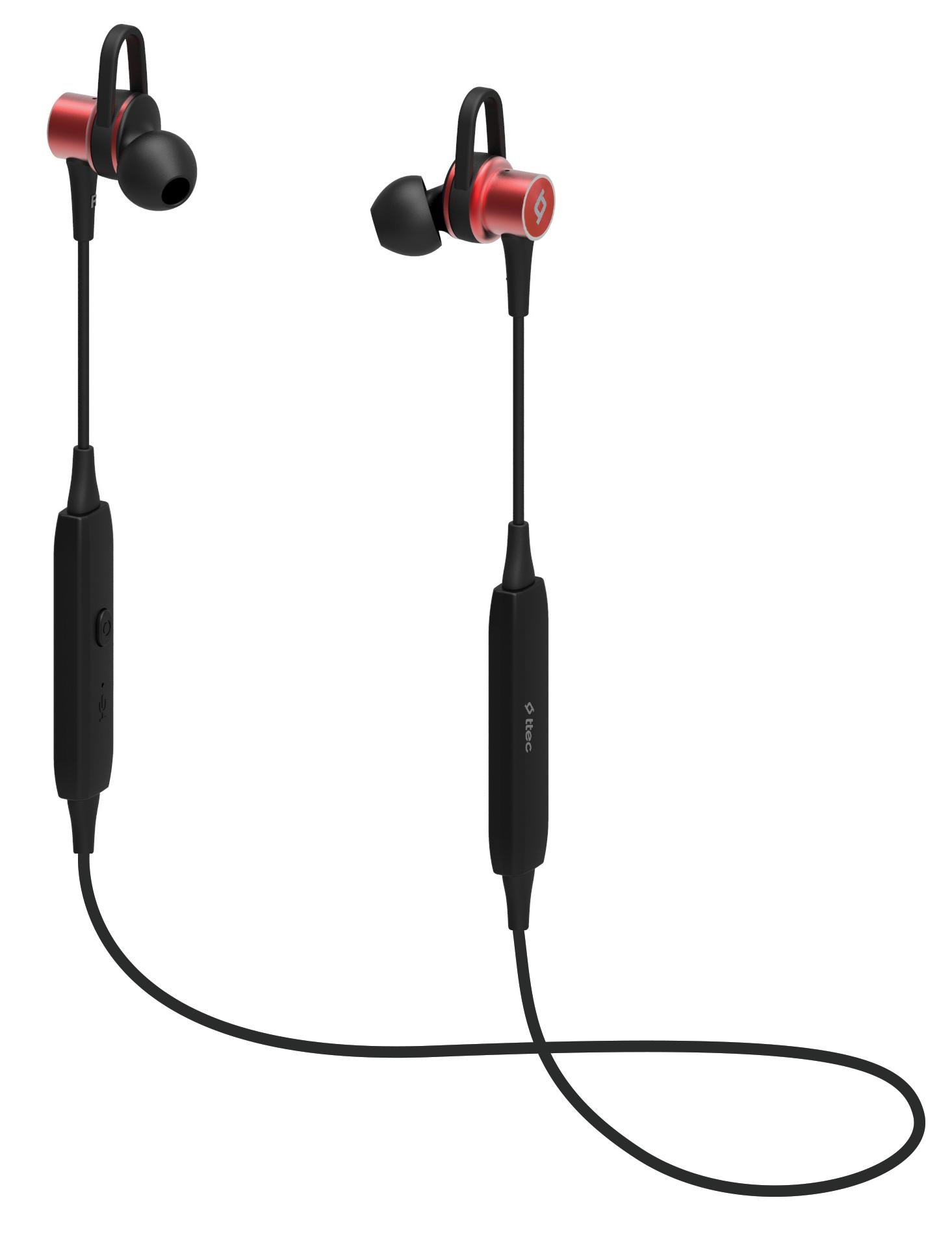 Беспроводные наушники TTEC SoundBeat Pro Wireless Red (2KM113K)