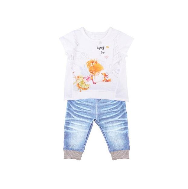 Комплект 2 пр. Папитто для девочки Fashion Jeans 522-04 р.24-80