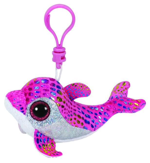 Купить Брелок Дельфин Sparkles розовый, Брелок-игрушка TY Beanie Boo's Дельфин Sparkles розовый 36605, Аксессуары для ранцев и рюкзаков