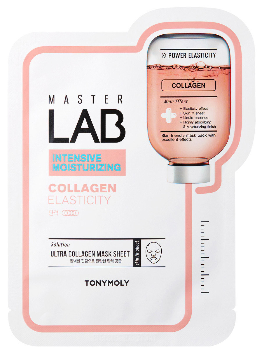 Тканевая маска для лица с коллагеном Tony Moly Master Lab Collagen Mask Sheet 19 гр