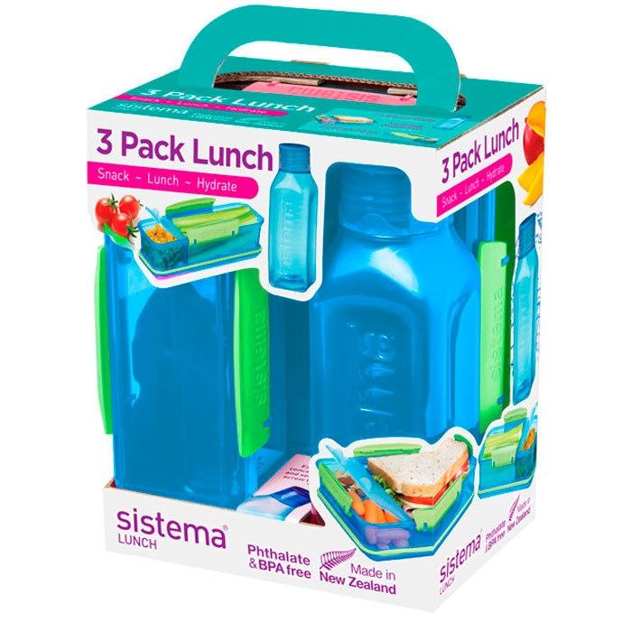 Sistema Набор Lunch: 2 контейнера и бутылка