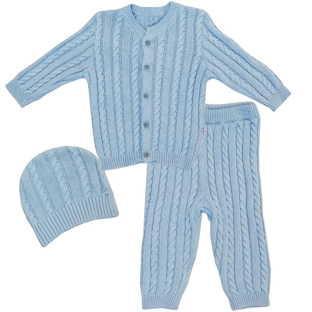 Купить 73-9006, Комплект одежды Папитто, цв. голубой р.68,