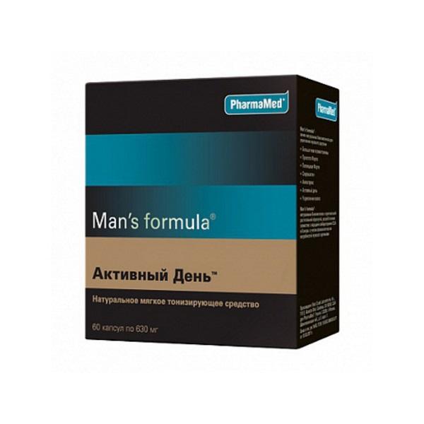 Купить Мен-с формула, Man's formula PharmaMed активный день 30 капсул