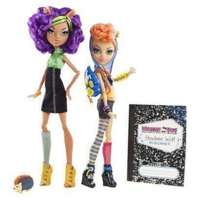 Купить Набор кукол Monster High Клодин Вульф и Хаулин Вульф X5227, Классические куклы