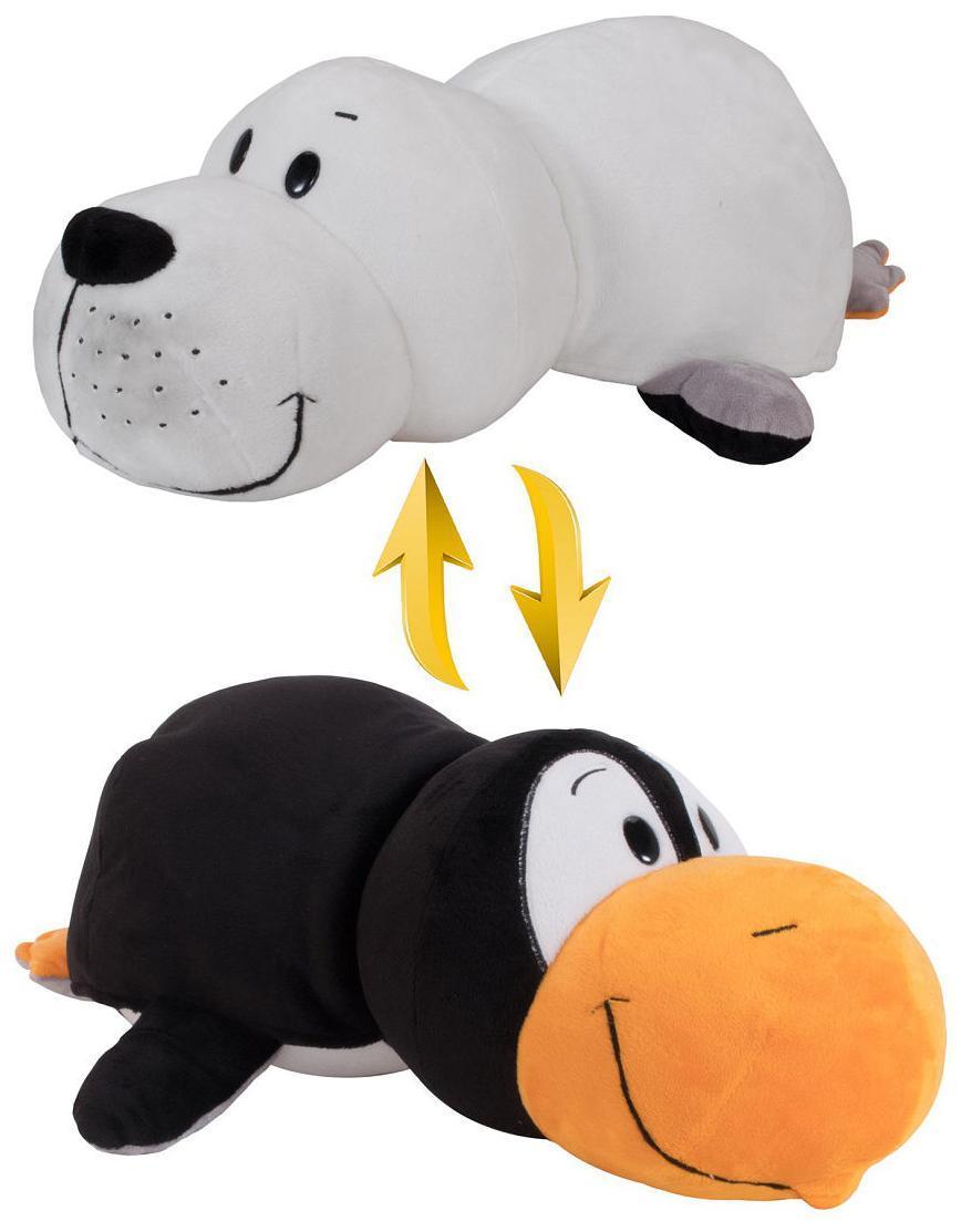 Купить Мягкая игрушка 1 TOY Вывернушка Морж и Пингвин 20 см, Мягкие игрушки животные