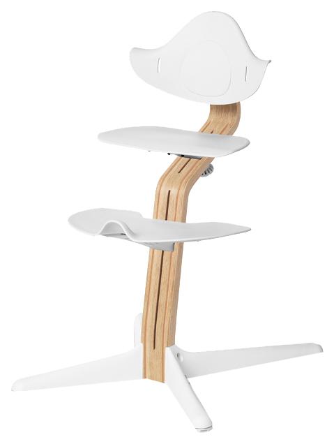 Детский регулируемый стул Evomove NOMI белый, дуб