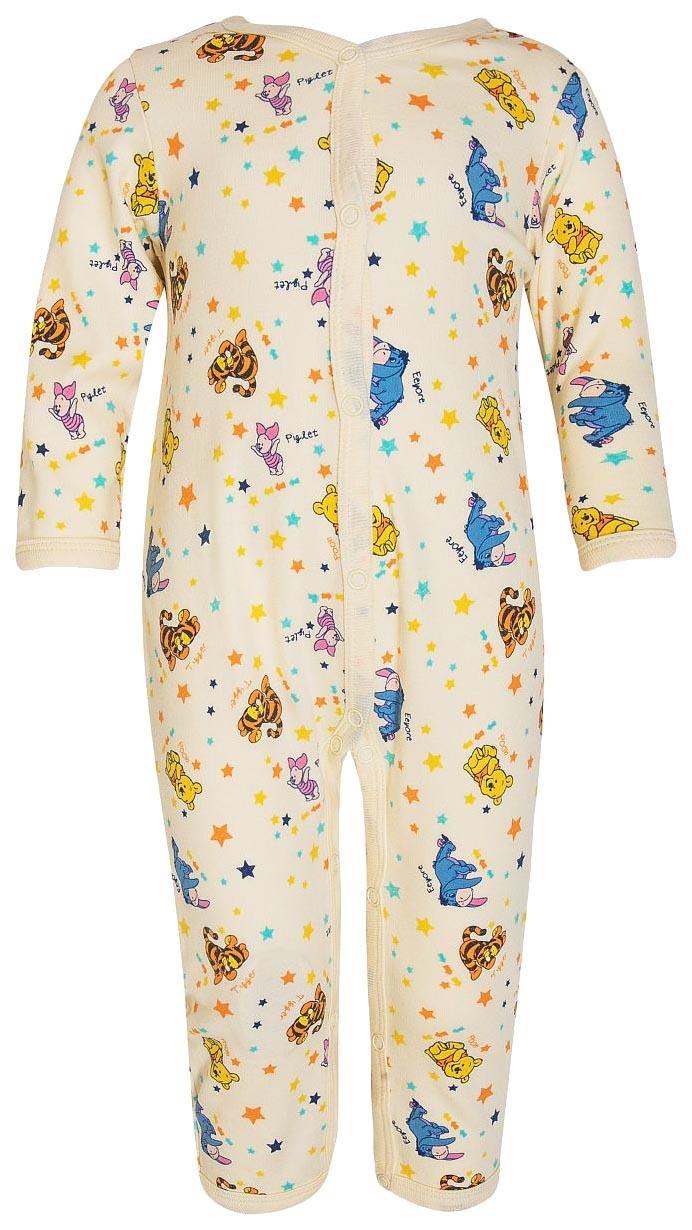 Купить Комбинезон детский Winnie The Pooh, белый с рисунком р.68, Barkito, Трикотажные комбинезоны для новорожденных