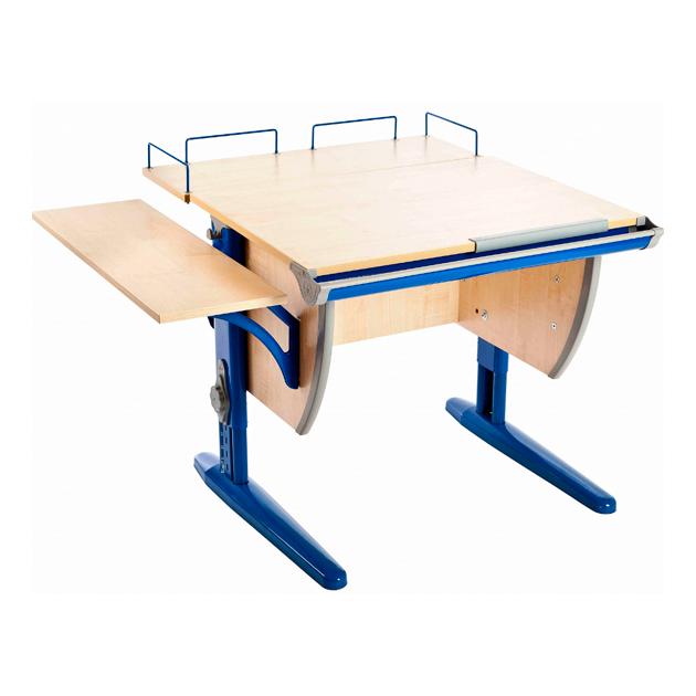 Парта ДЭМИ СУТ-14-02 75х55 см + и боковая приставки клен, синий,