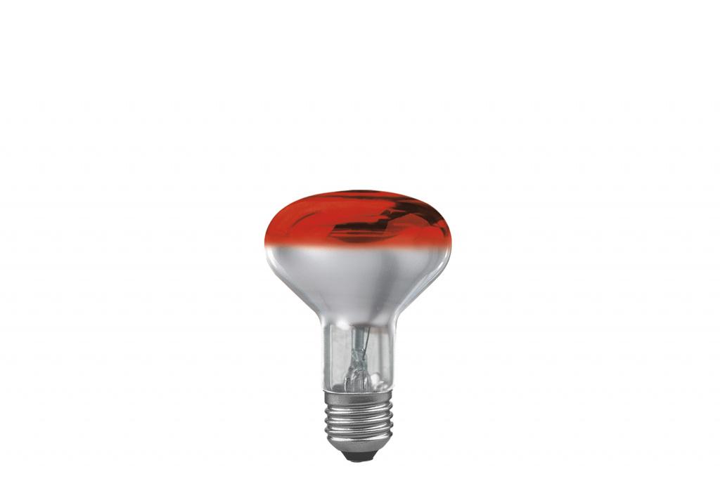 Лампа R80 рефлекторная, красная-прозрачная E27, 60W 25061