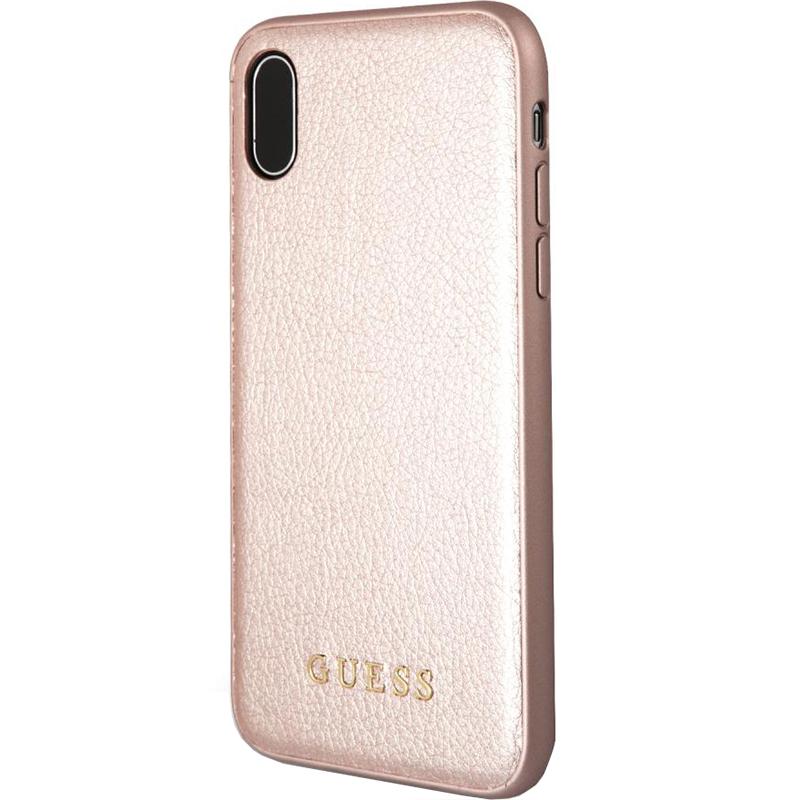 Чехол Guess Iridescent Hard Case для IPhone Xr Pink Gold