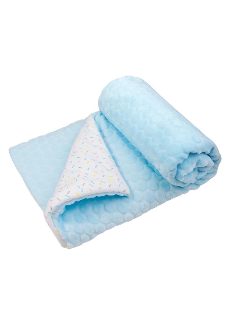 Плед детский Сонный гномик Буль-буль голубой
