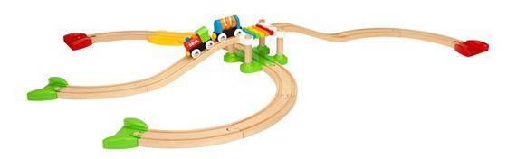 Моя первая железная дорога, Моя первая деревянная Железная дорога Brio для самых маленьких Новичок 33727, Детские железные дороги  - купить со скидкой