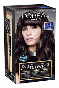 Краска для волос L\'Oreal Paris Preference оттенок 4,12 Монмартр
